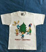 Vintage The Simpsons Family Christmas Screen Stars Best 50/50 T-shirt Sz. S