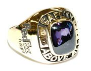 Mtm 10k Yellow Gold Fed Ex Driver Safety Above All 2019 Service Ring Size 12 New