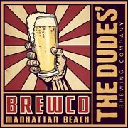 The Dudes Brewing Company Sticker Decal Craft Beer Brewery Micro Manhattan Beach