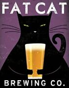Fat Cat Brewing Beer By Ryan Fowler 14x11 Advertisements Vintage Ads Fa