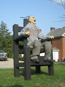 Wooden Electric Chair + Prisoner Halloween Life Size Animated Prop