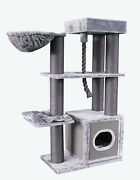 Atlanta Cat Tree, 62 Tall, 2 Color Choices, Free Shipping In The United States