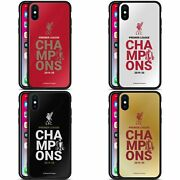 Liverpool Fc Lfc 2020 Champions Black Hybrid Glass Back Case For Iphone Phones