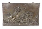 Plate Sculpture Bronze Signed Barbedienne 19th