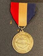 Vintage Aau Age Group Silver Swimming Medal W/ Ribbon