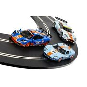 Scalextric Rofgo Collection Gulf Triple Pack 1/32 Slot Cars Gt40 Mclaren And Dbr9