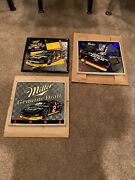 Lot Of 3 Miller Genuine Draft Mgd Beer Rusty Wallace Nascar Mirrors