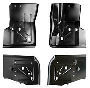 Front And Rear Floor Pan Kit Fits 97-06 Wrangler Tj Rust Repair Both Sides