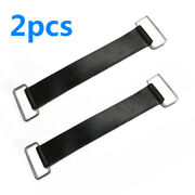 2 Black Motorcycle Scooter Battery-mounting Strap-holder Belts Rubber Parts New