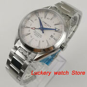 Corgeut 41mm Men Watch Sapphire Crystal Gmt Automatic Mechanical Watches