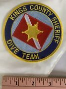 Vintage Kings County Sheriff Dive Team Scuba Patchandnbsp- Free Shipping