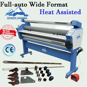 63in Full-auto Roll Cold Laminator Heat Assisted Laminating Machine With Trimmer