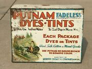 Putnam Dyes And Tints W/ Dye Paks General Store Counter Display