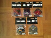 Call Of Duty Wwii World War 2 Division Pre-order Bonus Set Of 5 Iron On Patches