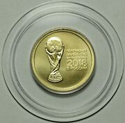2018 Russia 50 Roubles Fifa Football Fußball Soccer Cup 1/4 Oz Gold 999 Unc