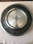 Vintage Lincoln Hubcap Car Early 1970-1989 15 Inch