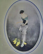 1927 Original Signed Louis Icart And039le Goanducircterand039 The Snack Custom Archively Frame