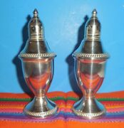 Antique Sterling Silver Salt And Pepper Shakers Weighted 5 Tall X 2 Perfectandnbsp