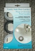 New Evriholder Vanity Sink Hair Catcher 6 Pack New In Package Fits Most Drains