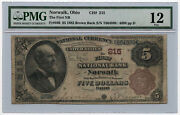 1882 5 Brown Back The First National Bank Of Norwalk Pmg F 12 Ch 215 Rare
