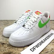 Nike Womenandrsquos Air Force 1 Andlsquo07 Laser Crimson Size 10.5 Green Stripe Ct4328 100 New