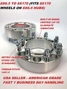 2pc 1.5 Hubcentric Wheel Adapters 8x165.1 8x6.5 To 8x170 14x1.5 Studs Spacers