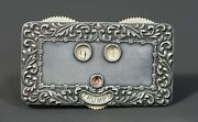 Victorian Bridge Playing Cards Skat Whist Vint Sterling Silver Trump Indicator