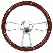 1957 -1963 Chevy Full Size Cars Real Wood And Billet Steering Wheel And Adapter
