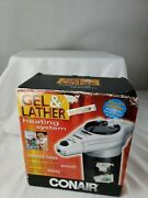 Conair Gel And Lather Heating System - Silver And Black Model - Hgl1 New In Box