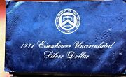 13 Sets Of 1971 Silver Uncircluated Eisenhower Ike Dollar Blue Pack Coins
