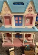 1993 Fisher Price Loving Family Dream Doll House + Huge Lot Of Accessories