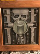 Emerson, Lake And Palmer's Brain Salad Surgery Hand Carved Album Cover On Wood