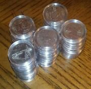 1999-2008 Complete 50 State Quarters Set + 50 Clear Plastic Coin Capsules