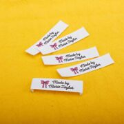 Custom Sewing Garment Labels Customized Organic Cotton Fabric Name Clothing Tags