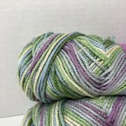 Light Purple Blue Green Worsted Yarn Twin Pack Made In Usa Acrylic Dream Weaver