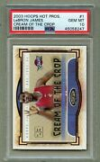 Lebron James 2003 Hoops Hot Prospects Cream Of The Crop Psa 10 Cavaliers Lakers