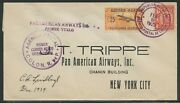 Charles Lindbergh Signed Cover Dec 1934 To New York City Wl4457
