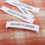 Customized Garment Labels Sewing Your Name Organic Cotton Fabric Handmade Logo