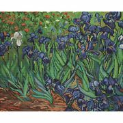Counted Cross Stitch Kit Irises After Van Gogh B444 Luca-s 18ct