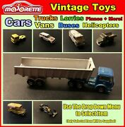 Vintage Majorette Toy Cars Trucks Buses Helicopters +more Select Item Used