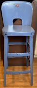 Vintage Industrial Metal Kitchen Chair Stool Sweetheart Back Country Decor 31andrdquo