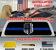 Support Law Enforcement Police Thin Blue Line Pickup Rear Window Decal Tint