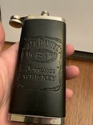 Jack Daniels Stainless And Leather 5 Oz Flask 2010