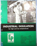 Eagle Picher Insulation Catalog Blue Asbestos Cement 1958 Military Specification