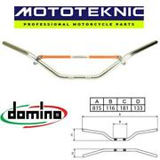 Domino 22mm Classic Silver Offroad Handlebars To Fit Tm Racing Bikes