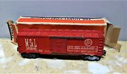 Postwar Lionel 6465 Minneapolis And St Louis Msl Peoria Gateway O Boxcar And Box