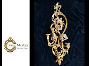 Candle Holder Wall Mount Wall Fireplace Decor Gilded In Genuine 22k Gold Leaf