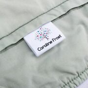 30x20mm Personalized Tree Name Tag Custom Clothing Labels Organic Cotton Cloth