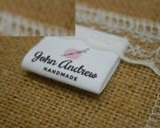 30x20mm Custom Logo Design Labels Sewing Knitting Cotton Clothing Printing Tags