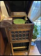 Antique Edison Disc Phonograph 1903-1916 With Original Records